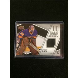 2011-12 Upper Deck UD Game Jersey #GJ-JQ Jonathan Quick Los Angeles Kings
