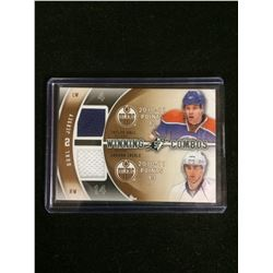 2011-12 SPX TAYLOR HALL/ EBERLE WINNING COMBOS DUAL JERSEY WC-EH