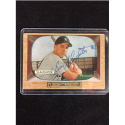 ENOS SLAUGHTER AUTOGRAPHED BASEBALL CARD