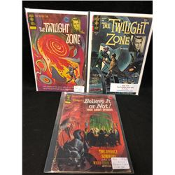 1960-70'S GOLD KEY COMIC BOOK LOT (TWILIGHT ZONE #45, 26 & BELIEVE IT OR NOT #34)