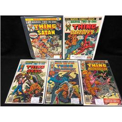 1970'S THE THING COMIC BOOK LOT #14, 3, 35, 36, 62 (MARVEL COMICS)
