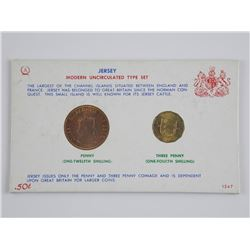 Jersey Modern Type Set Penny and Three Penny