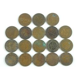 18x King George - Large One Cent