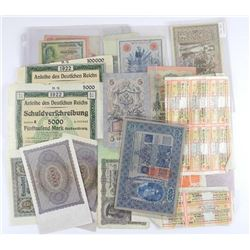 Lot of Mixed Notes - Stock Certs etc. Estate