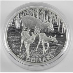 .9999 Fine Silver $20.00 Coin 'White Tail Deer' 'A