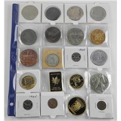 Lot (20) Mixed Medals - Coins and Silver Dollar 'N