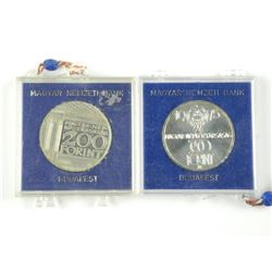 2x Budapest Silver Coin.