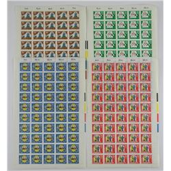 Lot (50) Original Stamps - Original Sheets Bundesr