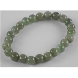 Jade Gemstone Bracelet Flex 12mm Bead.