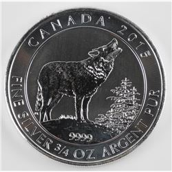 Howling Wolves - .9999 Fine Silver Coin