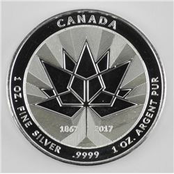 .9999 Fine Silver Canada 150 MEDAL 1 Troy Ounce. S