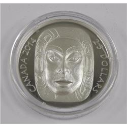 2014 - $25 Silver Moon Mask .9999 Fine Silver. Iss