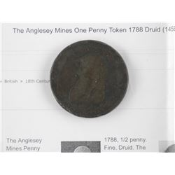 1788 'DRUID' Penny Token Anglesey Mines