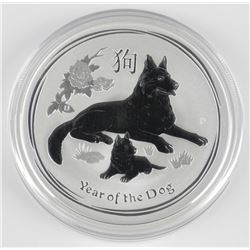 .9999 Fine Silver 2018 - $2.00 'Year of the Dog' C
