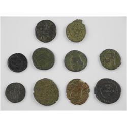10x Ancient Roman Coins - Cleaned