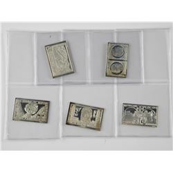 5x .925 Sterling Silver Postage Stamp