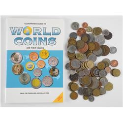 Lot World Coins with Guide Book - 24.95