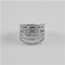 Ladies 925 Sterling Silver Stacking Band Ring with