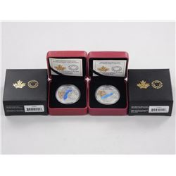 2x RCM .9999 Fine Silver Great Lakes $20.00 Coins