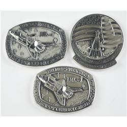 3x 925 Sterling Silver Space Medals