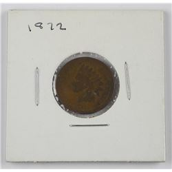 1872 USA Indian Head One Cent.