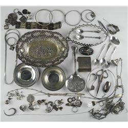 Estate Lot - Mixed Sterling Silver - Jewellery etc