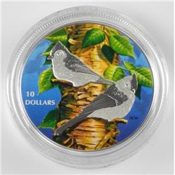 "2017 9.9 Fine Silver $10.00 Coin ""Tufted Titmouse"