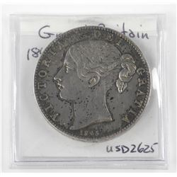 Great Britain - 1845 Crown (XF) KM #741. USD $2625