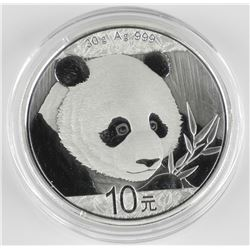 2018 - Bank of China 999 Fine Silver 10YN Panda Co