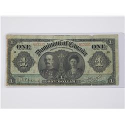 Dominion of Canada - Jan 1911 One Dollar Note.