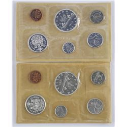 2x Silver Mint PL Coin Sets - 1961-1962