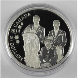 """9.9 Fine Silver $20.00 Coin """"Royal Generations"""""""