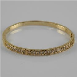 Gold Plated / 925 Silver Bangle Bracelet with Swar