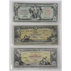 3x The Canadian Bank of Commerce Note Set. Include