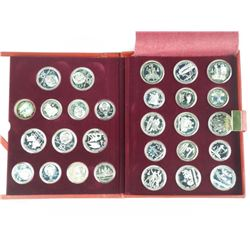 Original 28pc Set - Solid Silver 1980 Olympic Coin