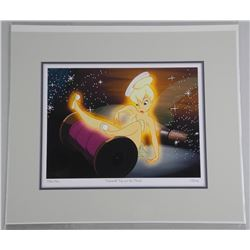 """Disney """"Tinkerbell Trip over The Thread"""" Ultra Giclee. 13x11 Inches."""