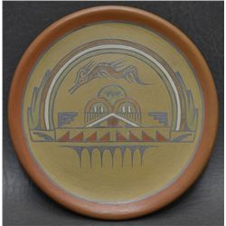 SANTA CLARA POTTERY PLATE (LELA AND LUTHER GUTIERREZ)