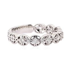 14KT White Gold 0.19 ctw Diamond Band