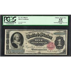 1886 $1 Martha Washington Silver Certificate Note Fr.221 PCGS Choice About New 5