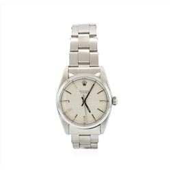 Rolex Stainless Steel Oyster Perpetual Mens Wristwatch