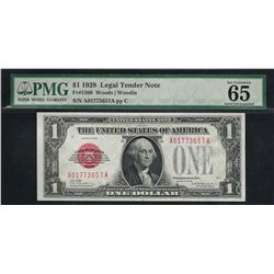1928 $1 Legal Tender Note Fr.1500 PMG Gem Uncirculated 65EPQ