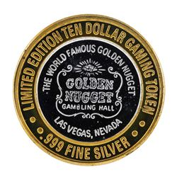 .999 Silver Golden Nugget Las Vegas, NV $10 Casino Limited Edition Gaming Token