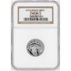 2001 $25 Platinum American Eagle Coin NGC MS69