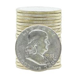 Roll of (20) 1959-P Brilliant Uncirculated Franklin Half Dollars