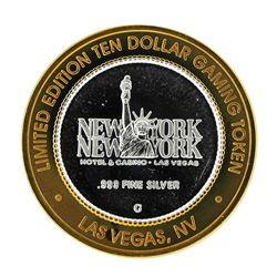 .999 Silver New York New York Hotel & Casino $10 Casino Limited Edition Gaming T