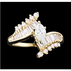 14KT Yellow Gold 1.15 ctw Diamond Ring