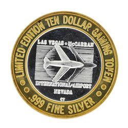 .999 Silver McCarran International Airport Las Vegas, NV $10 Limited Casino Toke