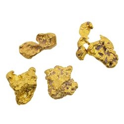 Lot of (4) Australian Gold Nuggets 2.66 Grams Total Weight