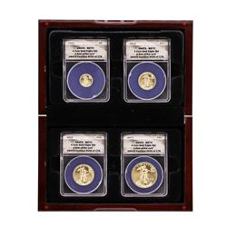 2012 American Gold Eagle (4) Coin Set ANACS MS70 First Strike