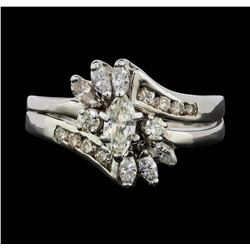 14KT White Gold 1.08 ctw Diamond Ring